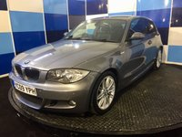 "USED 2009 09 BMW 1 SERIES 2.0 118I M SPORT 3d 141 BHP A stunning example of this very desirable  family hatchback finished in unmarked metalic grey contrasted with 17"" twin spoke alloys.This car comes with front and rear parking sensors ,half leather trim,buisiness cd player with aux imput,front fog lamps plus all the usual bmw refinements. Any inspection is welcomed but this is one car that needs to be driven and viewed to be fully appreciated."