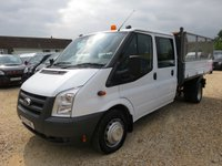 2012 FORD TRANSIT 2.4 TDCi 350 DOUBLE CAB TIPPER CREW CAB 44084 MILES ONLY £11995.00