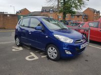 USED 2012 12 HYUNDAI I10 1.2 ACTIVE 5d 85 BHP FULL MAIN DEALER SERVICE HISTORY, ALLOYS, AIR CON, USB/AUX, LOW INSURANCE AND RUNNING COSTS