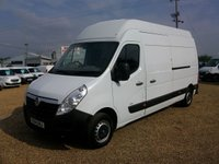 USED 2014 14 VAUXHALL MOVANO 2.3 F3500 L3H3 CDTI 1d 123 BHP CHOICE OF 4 L3 H3 ONE OWNER FROM NEW