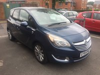 USED 2014 64 VAUXHALL MERIVA 1.4 SE 5d 118 BHP TOP SPEC SE! PAN ROOF! LOW MILEAGE, ALLOY WHEELS, AIR CON, HALF LEATHER TRIM, FRONT AND REAR SENSORS