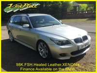 USED 2008 57 BMW 5 SERIES 2.0 520D M SPORT TOURING 5d 161 BHP +FSH+HEATED LEATHER+XENONS+