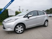 USED 2010 10 FORD FIESTA 1.2 EDGE 5d 81 BHP LOW MILES, LOW RUNNING COSTS, AIR CONDITIONING
