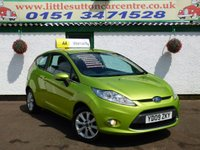 USED 2009 09 FORD FIESTA 1.2 ZETEC 3d 81 BHP LOW INSURANCE, 2 OWNERS, LONG MOT, BLUETOOTH