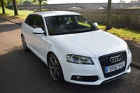 USED 2011 61 AUDI A3 2.0 SPORTBACK TDI S LINE BLACK EDITION 5d 168 BHP SERVICE HISTORY, 6 SPEED MANUAL, AUX INPUT, REAR PRIVACY GLASS