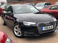 USED 2016 16 AUDI A4 1.4 TFSI SPORT 4dr 148 BHP One company owner, Full service history, Audi Warranty.