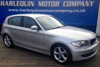 USED 2007 57 BMW 1 SERIES 2.0 118D SE 5d 141 BHP EXCEPTIONAL THIS 2007 BMW 118 D TURBO DIESEL SE MANUAL WITH CONTRASTING 1/2 M-SPOTS LEATHER AND BODY STYLING UPGRADED ALLOYS AIR CON IN TITAN SILVER METALLIC 2 OWNERS LAST DOCTOR FROM 1 YEAR OLD 7 SERVICE STAMPS CHEAP MOTORING