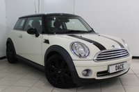 USED 2007 57 MINI HATCH COOPER 1.6 COOPER CHILI PACK 3DR 118 BHP SERVICE HISTORY + HALF LEATHER SEATS + CRUISE CONTROL + MULTI FUNCTION WHEEL + RADIO/CD + 17 INCH ALLOY WHEELS