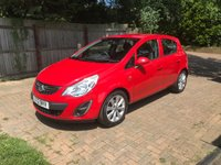 2012 VAUXHALL CORSA 1.2 ACTIVE AC 5d RED PRETOL MANUAL ONE LADY OWNER £3490.00