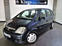 USED 2007 57 VAUXHALL MERIVA 1.2 LIFE 5d 73 BHP Great VALUE Mpv, Service History, Air Con, Large Boot, Great MPG