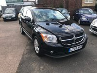 USED 2007 07 DODGE CALIBER 1.8 SXT 5d 148 BHP 7 SERVICE STAMPS-LONG MOT-LEATHER INTERIOR-ALLOY WHEELS