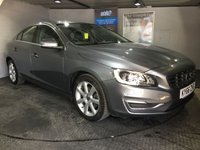 USED 2016 66 VOLVO S60 2.0 D4 SE LUX NAV 4d AUTO 187 BHP Only £30 a year road tax : Bluetooth   :   Satellite Navigation   :   DAB Radio   :   Wi-Fi   :   Full leather upholstery   : ECO+ Button  :  Heated front screen  :  Heated front seats  :  Electric/Memory driver's seat  : Rear parking sensors  :  Fully documented service history
