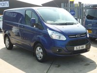 2016 FORD TRANSIT CUSTOM 2.2TDCi  T270 LIMITED 125 BHP Air Con Bluetooth Fronf and Rear Parking Sensors Heated Front Screen and much Morre