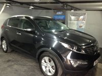 USED 2012 12 KIA SPORTAGE 1.7 CRDI 2 5d 114 BHP Bluetooth   :   Twin sunroof   : Part leather upholstery  :  Rear parking sensors  :  Fully stamped service history