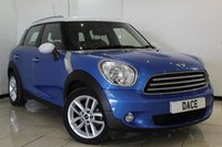 USED 2013 13 MINI COUNTRYMAN 1.6 COOPER CHILI PACK 5DR 122 BHP SERVICE HISTORY + LEATHER SEATS + PARKING SENSOR + CRUISE CONTROL + MULTI FUNCTION WHEEL + AUXILIARY PORT + 17 INCH ALLOY WHEELS