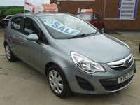 2013 VAUXHALL CORSA 1.4 EXCLUSIV AC 5d 98 BHP £SOLD