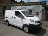 2017 NISSAN NV200 1.5 DCI ACENTA, 90 BHP, ONLY 2,000 MLS! NEARLY NEW VAN, REVERSE CAM, BLUETOOTH, WARRANTY UNTIL 2020 £9400.00