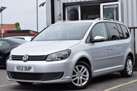 2012 VOLKSWAGEN TOURAN 1.6 SE TDI BLUEMOTION TECHNOLOGY 5d 103 BHP £8495.00