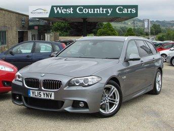2015 BMW 5 SERIES 2.0 520D M SPORT TOURING 5d AUTO 188 BHP £18500.00