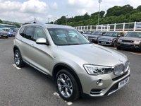 USED 2015 15 BMW X3 2.0 XDRIVE20D XLINE 5d AUTO 188 BHP Sat Nav, Media, DAB & Bluetooth, full leather, heated seats ++