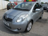 USED 2007 57 TOYOTA YARIS 1.3 TR VVTI 5d 86 BHP 3 MONTHS WARRANTY INCLUDED,