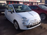 2009 FIAT 500 1.2 LOUNGE 3d 69 BHP £SOLD