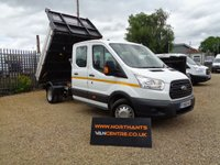 USED 2016 66 FORD TRANSIT 2.2 350 L3 DOUBLE CAB TIPPER  DRW 4d 125 BHP