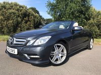 USED 2012 12 MERCEDES-BENZ E CLASS 3.0 E350 CDI BLUEEFFICIENCY SPORT 2d AUTO 265 BHP SUPER CONDITION E350 SPORT CONVERTIBLE IN MET WITH FULL SILVER SPORTS LEATHER AMG ALLOYS 60000 MILES BACKED UP BY FSH