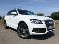 "USED 2012 12 AUDI Q5 2.0 TDI QUATTRO S LINE PLUS 5d AUTO 170 BHP S LINE!!! IBIS WHITE!! FULL SPEC!! 20"" WHEELS!!"