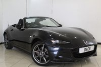 USED 2016 16 MAZDA MX-5 2.0 SPORT NAV 2DR 158 BHP HEATED LEATHER SEATS + SAT NAVIGATION + BLUETOOTH + PARKING SENSOR + CRUISE CONTROL + CLIMATE CONTROL + 17 INCH ALLOY WHEELS