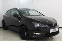 USED 2015 15 SEAT IBIZA 1.2 TSI FR BLACK 3DR 104 BHP FULL SERVICE HISTORY + HALF LEATHER SEATS + CRUISE CONTROL + AIR CONDITIONING + AUXILIARY PORT + RADIO/CD + 17 INCH ALLOY WHEELS