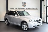 USED 2008 58 BMW X3 2.0 D M SPORT 5DR AUTO 175 BHP +  FULL BLACK LEATHER INTERIOR + FULL SERVICE HISTORY + HEATED SPORT SEATS + RAIN SENSORS + AUTO AIR CONDITIONING + PARKING SENSORS + 19 INCH ALLOY WHEELS +