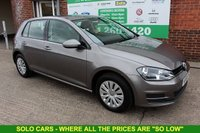 USED 2014 64 VOLKSWAGEN GOLF 1.6 S TDI BLUEMOTION TECHNOLOGY 5d 103 BHP +FREE TAX +5 Stamp FULL SH.
