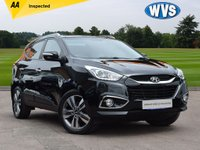 USED 2015 15 HYUNDAI IX35 2.0 CRDI PREMIUM PANORAMA 5d AUTO 134 BHP A very low mileage 2015 Hyundai IX35 2.0crdi PREMIUM 4X4 AUTO in black with a black leather interior and PANORAMIC ROOF. Just 14000 miles with service history and 2 keys.