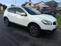 2012 NISSAN QASHQAI 1.5 N-TEC PLUS DCI  white 2 owners panroof,satnav & bluetooth  £7995.00