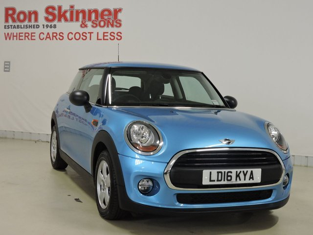 View our 2016 16 MINI HATCH ONE 1.5 ONE D 3d 94 BHP with Pepper Pack + 15in Alloys