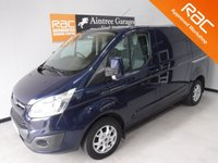USED 2013 13 FORD TRANSIT CUSTOM 2.2 270 LIMITED LR P/V 1d 124 BHP ELEC WINDOWS, REMOTE CENTRAL LOCKING, RADIO CD, ALLOY WHEELS,ELEC FOLDING MIRRORS, VOICE COMMAND, AUTO HEAD LAMPS, CRUISE CONTROL, COLOUR CODED BUMPERS, MULTI  FUNCTION STEERING WHEEL, PARKING SENSORS, FRONT FOG LAMPS