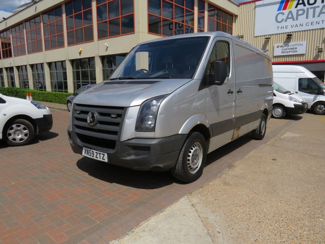 2009 59 VOLKSWAGEN CRAFTER 2.5 CR35 BLUE 108 BHP MWB LOW ROOF NO VAT 2 OWNER FROM NEW, MOT UNTIL 1/11/2018