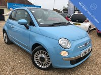 USED 2012 62 FIAT 500 1.2 LOUNGE AUTOMATIC dualogic 1.2 Rare Automatic Fiat 500 in Volare Blue 1 Lady owner