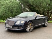 USED 2014 63 BENTLEY CONTINENTAL GTC 6.0 GT SPEED 2d AUTO 616 BHP CONVERTIBLE NEW SHAPE!!!! SPEED CONVERTIBLE!!2 OWNERS FSH