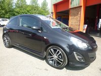 USED 2014 VAUXHALL CORSA 1.4 BLACK EDITION 3d 118 BHP