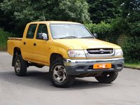 2002 TOYOTA HI-LUX 2.5 270 EX DOUBLE CAB 4WD 4dr £2250.00