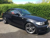 2010 BMW 1 SERIES 2.0 120D M SPORT 2d 175 BHP, LOW MILEAGE, FULL RED LEATHER INTERIOR, HUGE FACTORY SPEC LIST £8495.00