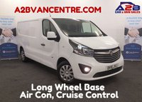 USED 2015 15 VAUXHALL VIVARO 1.6 2900 L2H1 CDTI SPORTIVE 115 BHP Long Wheel Base, Bluetooth Phone Connectivity, One Owner, Rear Parking Sensors **Drive Away Today**
