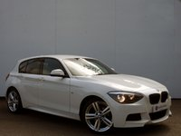 USED 2015 15 BMW 1 SERIES 2.0 116D M SPORT 5d 114 BHP Alpine White 5 Door 1 Series with Privacy Glass Package & Bluetooth......