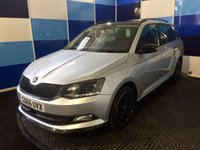 "USED 2017 66 SKODA FABIA 1.2 MONTE CARLO TSI 5d 89 BHP A truely wonderful example of this much prized family hatchback finished in unmarked silver paintwork contrasted with black 16"" aloy wheels along with a very striking red ,black and grey interior this car looks and drives like a new car"