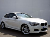 USED 2012 62 BMW 1 SERIES 2.0 118D M SPORT 3d 141 BHP Alpine White with Full M Sport Alcantara Sport Seats, Privacy Glass Package......