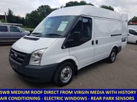 2011 FORD TRANSIT 280 SWB MEDIUM ROOF WITH AIR-CON FROM VIRGIN MEDIA £6495.00