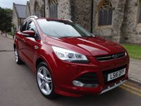 USED 2016 16 FORD KUGA 2.0 TITANIUM X SPORT TDCI 5d 148 BHP + SUNROOF + SAT NAV + LEATHER +