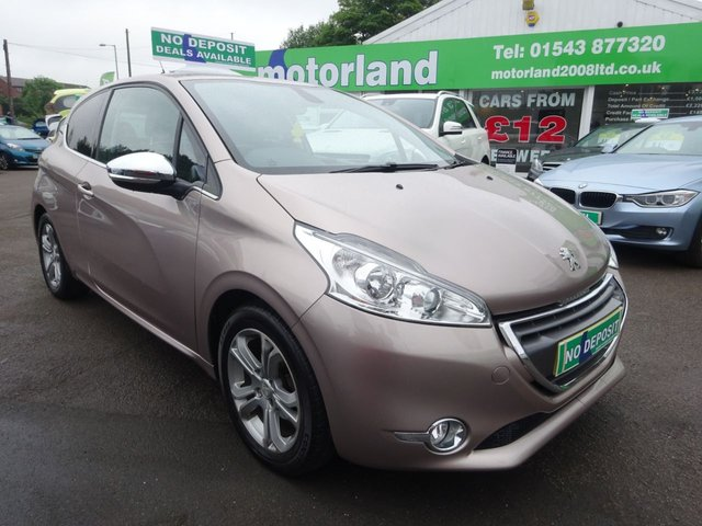 USED 2013 63 PEUGEOT 208 1.2 ALLURE 3d 82 BHP £0 DEPOSIT FINANCE DEAL AVAILABLE....TEST DRIVE NOW!!